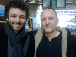 With Michael Sheen 15-3-09