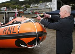Newcastle RNLI new inshore D class lifeboat named Eliza in memory of mother
