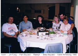 Dinner with friends August 1990