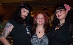 Dynah Luv (aka Johnny Ivey) and Liz Gruesome with me