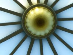 What a site on the ceiling of the Dome!