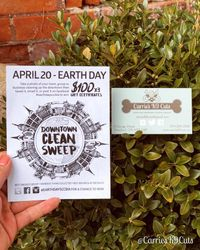 DownTown Clean Sweep on April 20 For EarthDay