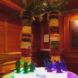 Fruit palm trees with led base
