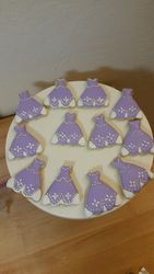 Princess Sofia Dress Cookies