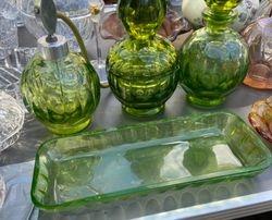 Magnificent Crystal trim circa 1930. Bohemian glass