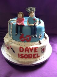 Joint Birthday Cake 2 tiers