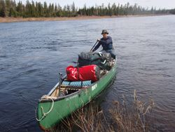 20' canoe loaded