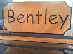 Bentley's name plate