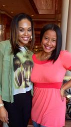 Demetria McKinney & Her Attorney/Friend Omara Harris During Brunch @ The Four Seasons on January 20, 2013