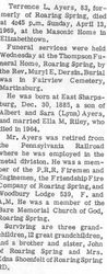 Ayers, Terrence 1969 - 2nd obit