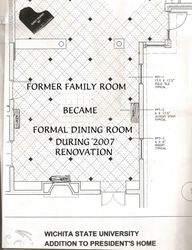 Plans for Formal  Dining in Renovation
