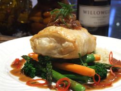 Chicken Wellington in Filo Pastry