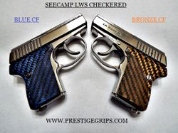 SEECAMP LWS CHECKERED BLUE & BRONZE MOUNTED
