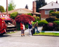 Avery and garbage truck Seattle 1999