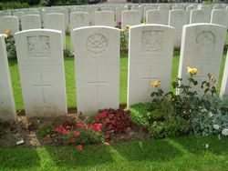 THE GRAVES OF HAROLD ROWE & FRANK SANGWIN. 2nd 9th Bn