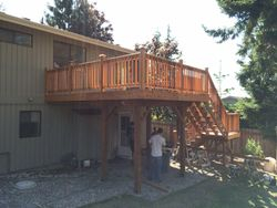Upper Deck with Wrap Around Steps #4
