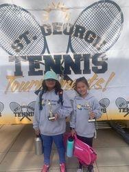 Kayley/Hana 3rd place girls 10s doubles