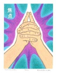 Focus Mudra Mandala, Oil Pastel, 11x14, Original Sold
