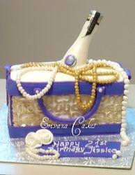 Coach Bag Cake with Pravda bottle (SP143)