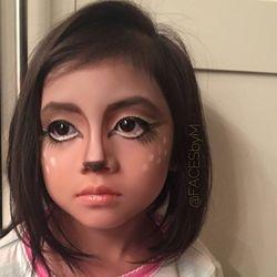 Baby doe-eyed deer