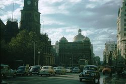 173 Sydney Town Hall & George St. 1957