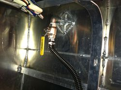 Through hole ball valve install