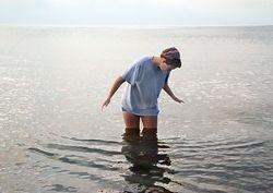 Savanna's first dip into Lake Superior 7/21/14