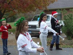 Twirling in the Christmas Parade