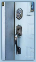 Weiser Electronic keypad lockset and handle installation