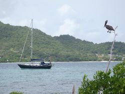 Anchored off Sandy Island