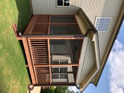 Before Holly Springs, NC Screened Porch Renovation