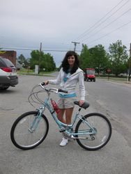 My Mother's Day gift -- a new bicycle for riding all the beautiful bike trails in Southern Illinois.
