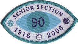 2006 Senior Section Jubilee Cloth Badge