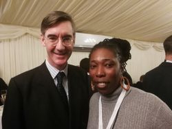 Sandra with Rees Mogg