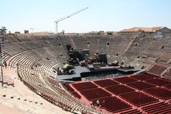 Inside of Roman Arena in Verona
