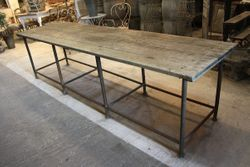 SOLD #18/220 Long Industrial Table SOLD
