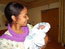 Mama Nova and Baby Nasir Ahmad
