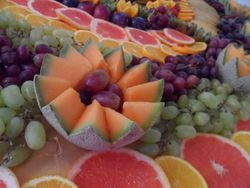 Table Fruit Display, Palm tree Hire
