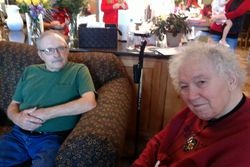 Mary and Gordon enjoying the good time