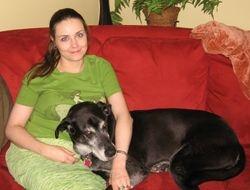 Sweet Nicole with Service Dog Loki