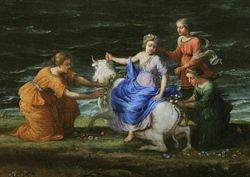 Claude, Rape of Europa, detail, Getty