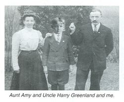 Amy B. (Pheasant) and Harry Greenland with their nephew, H. Clair Colbert
