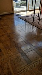 Parquet After cleaning and buffing