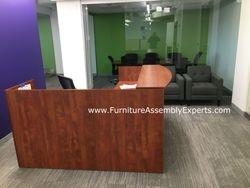 Reception desk installation service in Capitol hill DC