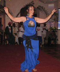 Tamalyn performing at a fundraiser for Drug Free Zanzibar