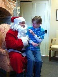Jaxs with Santa 2011