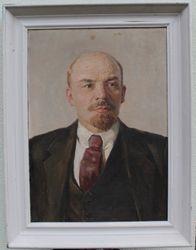 Lenino portretas. Aliejus, drobe. Kaina 157