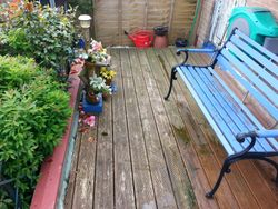 Decking - before cleaning