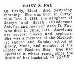 Fay, Daisy Snively 1955