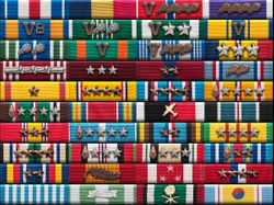 Ribbons awarded to the members of Post 6332